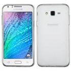 Samsung Galaxy J7 Semi Transparent White Candy Skin Cover - Rubberized