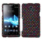 Sony Xperia TL Sprinkle Dots Diamante Case