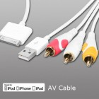 Apple iPhone 4/4s Composite AV Cable For iPod