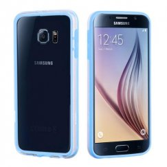 Samsung Galaxy S6 Baby Blue/Transparent Clear Case