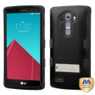 LG G4 Natural Black/Black Hybrid Case with Stand