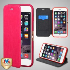 Apple iPhone 6/6s Plus Hot PinkWallet with Natural Black/Hot Pink Tray