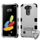 LG G Stylus 2 Natural Gray/Black Hybrid Phone Protector Cover (with Stand)