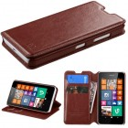 Nokia Lumia 635 Brown Wallet with Tray