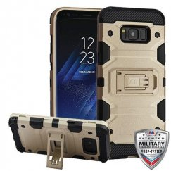 Samsung Galaxy S8 Plus Gold/Black Storm Tank Hybrid Case Military Grade