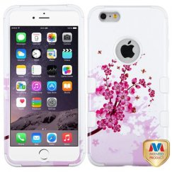 Apple iPhone 6/6s Plus Spring Flowers/Solid White Hybrid Case