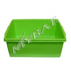 Plastic Storage Box-2# (L=17.25*W=14.00*D=7.25 inch) (Green)