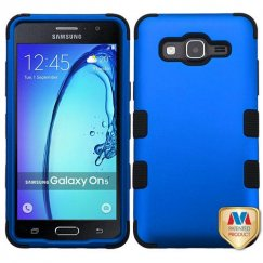 Samsung Galaxy On5 Titanium Dark Blue/Black Hybrid Case