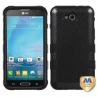 LG Optimus L90 Carbon Fiber/Black Hybrid Case