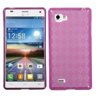 LG Optimus 4X HD Hot Pink Argyle Candy Skin Cover