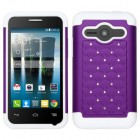 Alcatel One Touch Evolve 2 Purple/Solid White FullStar Case