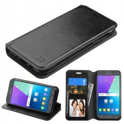 Samsung Galaxy J3 Black Wallet with Tray