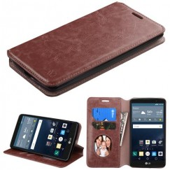 LG G Stylo Brown Wallet with Tray