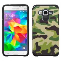 Samsung Galaxy Grand Prime Camouflage Green/Black Advanced Armor Case