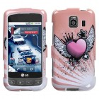 LG Optimus S Crowned Heart Case