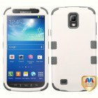 Samsung Galaxy S4 Active SGH-i537 Rubberized Pearl White/Iron Gray Hybrid Case