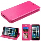 Alcatel Fierce 4 / Pop 4 Plus / Allura Hot Pink Wallet with Tray