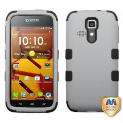 Kyocera Hydro Life / Hydro Icon Rubberized Gray/Black Hybrid Case