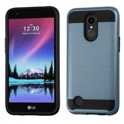 LG K10 Ink Blue/Black Brushed Hybrid Case