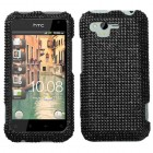 HTC Rhyme Black Diamante Case