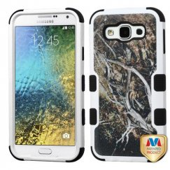 Samsung Galaxy E5 Yellow/Black Vine/Black Hybrid Case