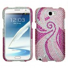 Samsung Galaxy Note 2 Phoenix Tail Diamante Protector Cover
