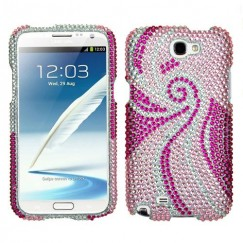 Samsung Galaxy Note 2 Phoenix Tail Diamante Case