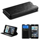 LG Optimus F6 Black Wallet with Tray