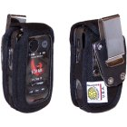 Motorola V860 Barrage Extended Battery Turtleback Heavy Duty Nylon Case with Metal Clip