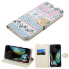 LG K10 Jumping Fishes Diamante Wallet with Diamante Belt