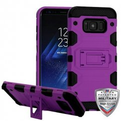 Samsung Galaxy S8 Plus Purple/Black Storm Tank Hybrid Case Military Grade