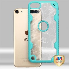 Apple iPod Touch (6th Generation) Transparent Clear/Tropical Teal Challenger Hybrid Case-Triangles