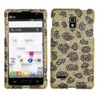 LG Optimus L9 Leopard Skin/Camel Diamante Case