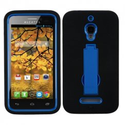 Alcatel One Touch Fierce Dark Blue/Black Symbiosis Stand Case