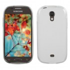 Samsung Galaxy Light Semi Transparent White Candy Skin Cover - Rubberized