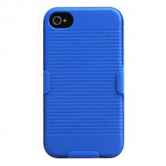 Apple iPhone 4/4s Rubberized Blue Hybrid Holster