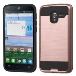 Alcatel Stellar / Tru 5065 Rose Gold/Black Brushed Hybrid Case