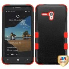 Alcatel One Touch Fierce XL Natural Black/Red Hybrid Phone Protector Cover