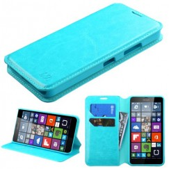 Nokia Lumia 640 Blue Wallet with Tray