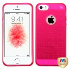 Apple iPhone SE Glassy Transparent Hot Pink SPOTS Candy Skin Cover