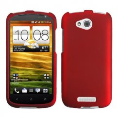 HTC One V Titanium Solid Red Case