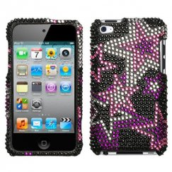 Apple iPod Touch (4th Generation) Super Star Diamante Case