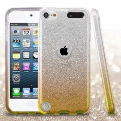 Apple iPod Touch (6th Generation) Gold Gradient Glitter Hybrid Case