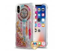 Apple iPhone X Dreamcatcher/Gold Stars Quicksand Glitter Lite Hybrid Protector Cover