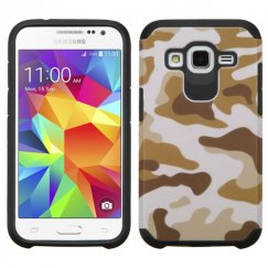 Samsung Galaxy Core Prime Camouflage Brown/Black Advanced Armor Case