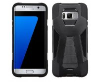 Samsung Galaxy S8 Plus Black Inverse Advanced Armor Stand Protector Cover