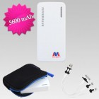 White Li-ion Power Bank (5600 mAh)