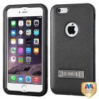 Apple iPhone 6/6s Plus Natural Black/Black Hybrid Case with Stand