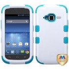 ZTE Concord 2 Ivory White/Tropical Teal Hybrid Case