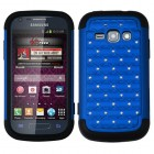 Samsung Galaxy Ring Dark Blue/Black Luxurious Lattice Dazzling TotalDefense Protector Cover